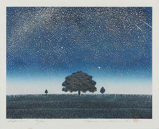 "Grp: 3 Hajime Namiki ""Tree Series"" Woodblock Prints"