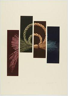 "Katsunori Hamanishi ""Division - Work No. 51"" Mezzotint 1995"