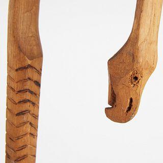 Grp: 2 1900 Seneca Iroquois Carved Wood Canes