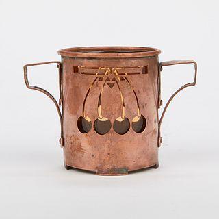 Handicraft Guild Minneapolis Metalware Copper Vase 1904-1918