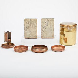 Heintz Sterling on Bronze Metalware Items