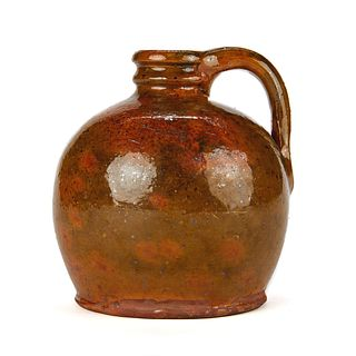 Galena Glazed Redware Stoneware Jug