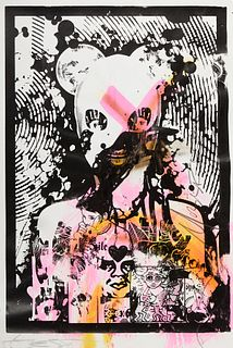 """Grp: 2 Miss Bugs """"Dirty Art Holding Hands With Politics"""" Mixed Media"""