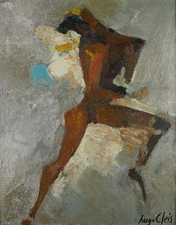 Hugo Cleis Abstract Figure Oil on Canvas