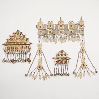 Grp: 3 Turkoman and Afghani Jewelry