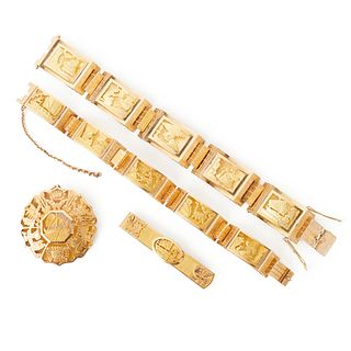 Grp: Vintage Peruvian 14K Gold Jewelry