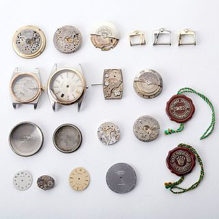 Large Group of Watch Parts & Movements - Rolex Longines