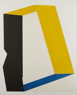 "Jack Sonenberg ""Dimensions #3"" Collograph"
