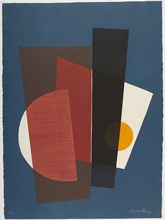 Jacqueline Debutler Abstract Silkscreen Print