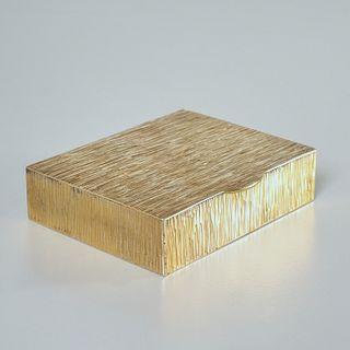 Tiffany & Co. gilt sterling silver hinged box