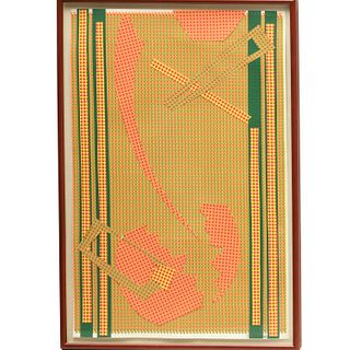 Edward Meneeley, silkscreen collage, 1982