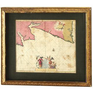 Johannis Van Keulen, Portugal map, 17th c.