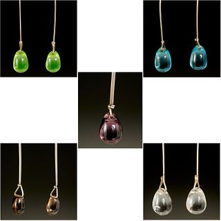 Group Vivianna Torun style dew drop jewelry