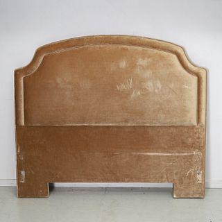 Custom velvet upholstered queen headboard