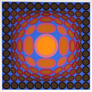 Victor Vasarely, signed serigraph