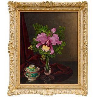 Johannes van Gent, floral still life painting