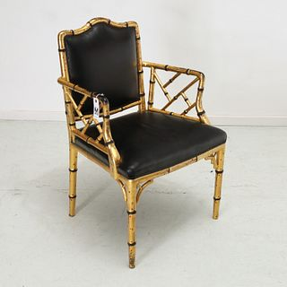 """Isabel O'Neill decorated """"bamboo"""" armchair"""