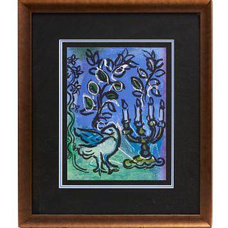 Marc Chagall, lithograph, 1962