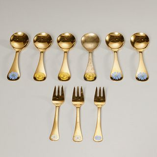 Georg Jensen, sterling annual forks and spoons