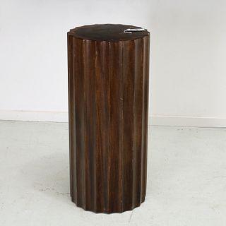 Dunbar, mahogany fluted column pedestal
