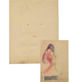 Red Grooms (attrib.), (2) drawings