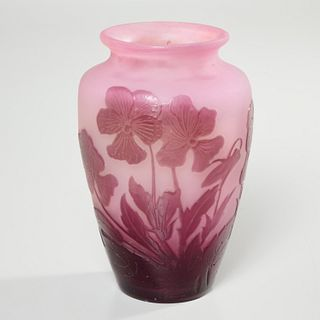 Emile Galle, small cameo glass vase