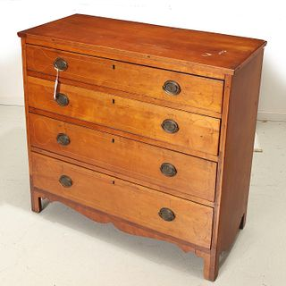 American Federal inlaid cherry chest of drawers