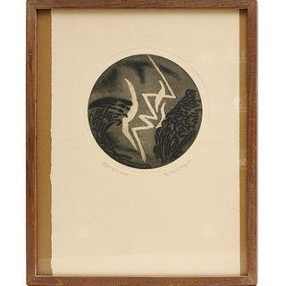 Karl Schrag, signed etching, 1967