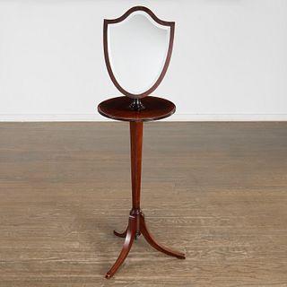 George III style mahogany shaving stand
