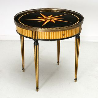 Isabel O'Neill decorated bouillotte table