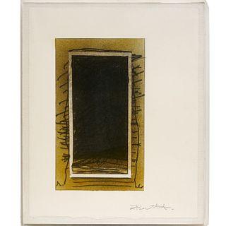 Jake Berthot, mixed media drawing on paper, 1972