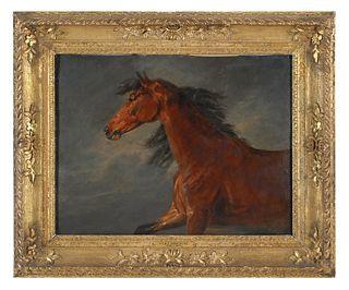 THEODORE GERICAULT Attrib, Horse, Oil on Board