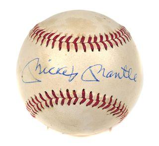 MICKEY MANTLE Signed Baseball