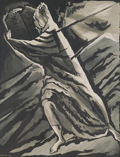 BERNARD B. SMITH, Wood Engraving MOSES