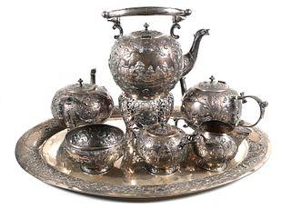 ERNST MENNER, 935 Sterling Silver Tea Set