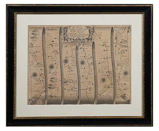 JOHN OGILBY, Essex Road Map, 1697