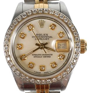 ROLEX Lady Datejust Oyster Perpetual Diamond Watch