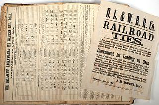 Antique Train Conductor's Logbook 1852 - 1875