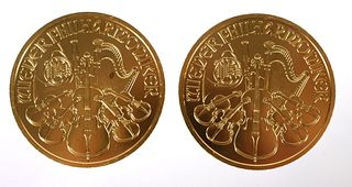 (2) Austria 2000 Schilling Philharmonic Gold Coin
