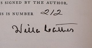 Willa Cather Signed First Edition