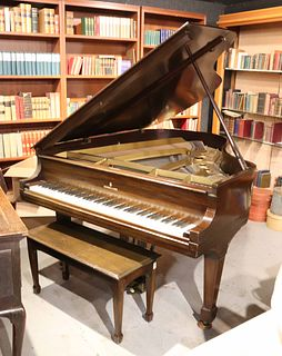 Steinway Mahogany Baby Grand Piano