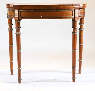 Regency Brass-Mounted Mahogany Games Table