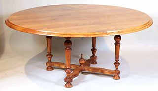 Baroque Style Cherrywood Circular Dining Table