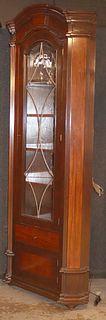 William Switzer Mahogany Corner Cupboard