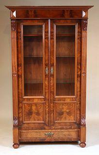 Victorian Mahogany Bookcase Cabinet