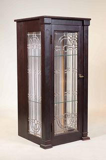 Victorian Walnut and Glass Display Cabinet