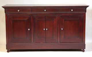 Contemporary Stained Cherrywood Chest of Drawers