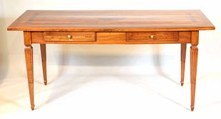 Neoclassical Style Walnut Writing Desk