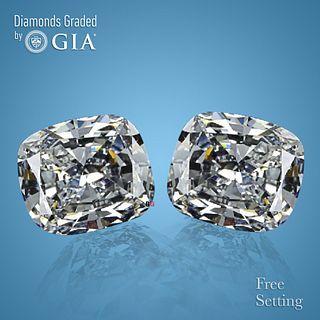 7.04 carat diamond pair Cushion cut Diamond GIA Graded 1) 3.51 ct, Color F, VS2 2) 3.53 ct, Color F, VS2. Appraised Value: $252,700