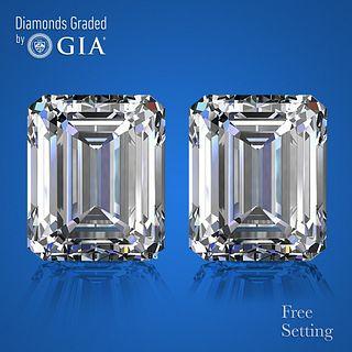 6.03 carat diamond pair Emerald cut Diamond GIA Graded 1) 3.01 ct, Color H, VVS2 2) 3.02 ct, Color H, VS1. Appraised Value: $195,300